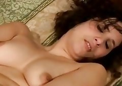 Hairy chubby toying her vagina