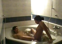 Nice Having An Intercourse In The Jacuzzi With Horny Brunette Hair