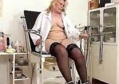 Blondie curvicious mature nurse