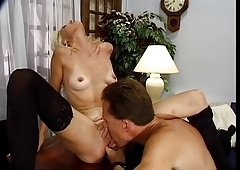 Raunchy Golden-haired Mature Emerson Office Bang