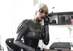 Latex High Definition XXX Video Clips Online. Lesbo BDSM Fetish Threesome
