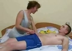 Skinny Brunette Hair Russian Old vs Boy pt2