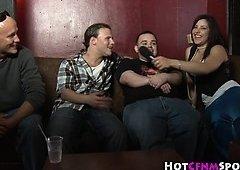 Cfnm party honeys humiliate pals