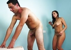 Perfect Bum Ballbusting Audition with Alana