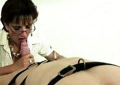Mistress Lady Sonia gives bj shlong