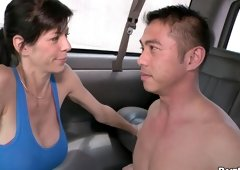 Cole Harvey and plus Niko Reeves have an intercourse asshole and give blowjob in bus