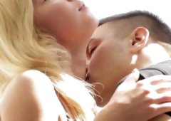 Cute baby delights with racy blowjob previous to rimming