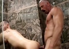 Hawt lad takes older dick in shower