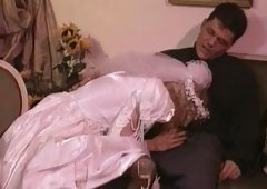 Blondie birde is pounded silly by wearing her wedding dress